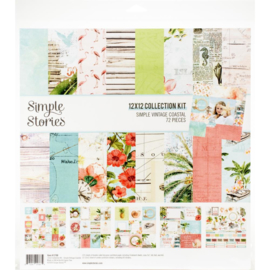 "Simple Stories Collection Kit 12""X12"" Simple Vintage Coastal"