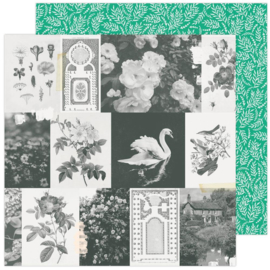 """Maggie Holmes Garden Party Double-Sided Cardstock 12""""X12"""" Garden Greens"""