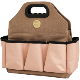 We R Memory Keepers Crafter's Tote Bag Taupe & Pink