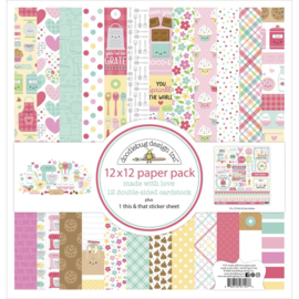 "Doodlebug Double-Sided Paper Pack 12""X12"" 12/Pkg Made With Love"