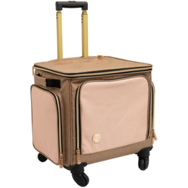We R Memory Keepers Crafter's Rolling Bag Taupe & Pink