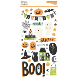"""Simple Stories Spooky Nights Chipboard Stickers 6""""X12"""" preorder"""