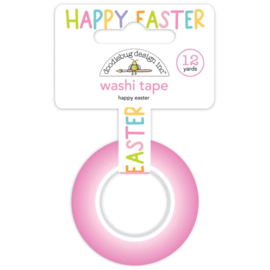Doodlebug Washi Tape 15mmX12yd Happy Easter Preorder