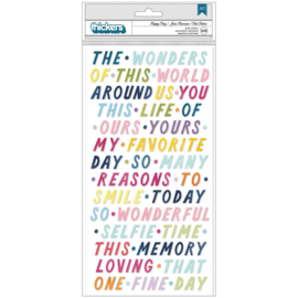 Paige Evans Wonders Thickers Stickers 329/Pkg Happy Day Phrases