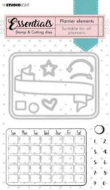 Studio Light Stamp & Cutting Die Planner Essentials nr.01 SL-PES-SCD01  preorder