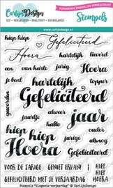 Carlijn Design Stempels Elegante verjaardag