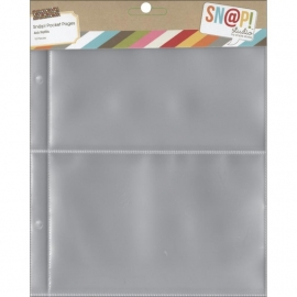 "Sn@p! Pocket Pages 4""x6"" Binders 10/Pkg"