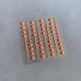 Simple and Basic Adhesive Enamel Dots Cognac (96 pcs)