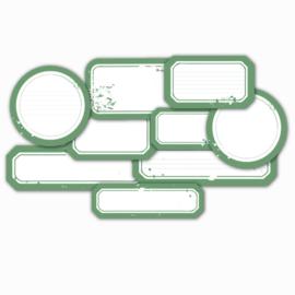 MP Design Die-cuts – Labels Sea Green