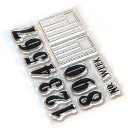 Elizabeth Craft Designs Pieces of Life 2 - Numbers & Labels CS161
