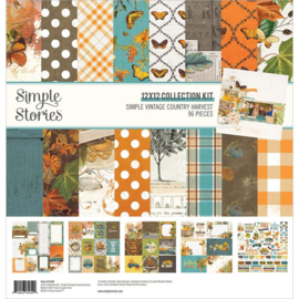 """Simple Stories Collection Kit 12""""X12"""" Simple Vintage Country Harvest"""