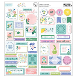 PinkFresh Cardstock Stickers Happy Blooms Preorder