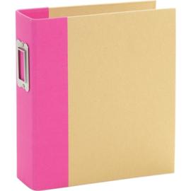 """Simple Stories Sn@p! Binder 6""""X8"""" Pink"""