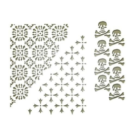Sizzix Thinlits Die set - Mixed Media Halloween #2 3PK 663089 Tim Holtz