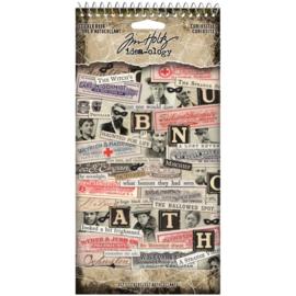 Tim Holtz Idea-Ology Sticker Book 357/Pkg Curiosities