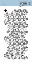 Elizabeth Craft Designs Waves S037 stencil