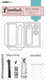 Studio Light Stamp & Cutting Die Planner Essentials nr.02 SL-PES-SCD02 preorder