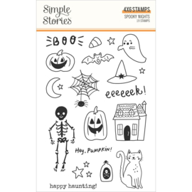 Simple Stories Spooky Nights Photopolymer Clear Stamps preorder