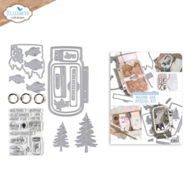 Elizabeth Craft Designs Mason Jar / Snow Globe Special K004