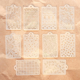 Elizabeth Craft Designs Pattern Stencil Pack S040