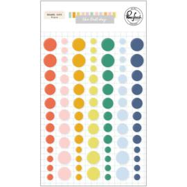 PinkFresh Enamel Dot Stickers The Best Day