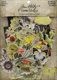 "Tim Holtz Idea-Ology Layers Die-Cuts 83/Pkg Botanical .75""X1"" To 6.5""X2"""