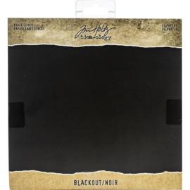 """Tim Holtz Idea-Ology Kraft Stock Cardstock Pad 8""""X8"""" 24/Pkg Blackout"""