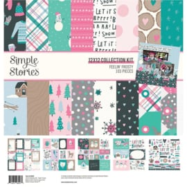"""Simple Stories Collection Kit 12""""X12"""" Feelin' Frosty preorder"""