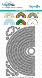 CarlijnDesign Snijmallen Outline Regenboog