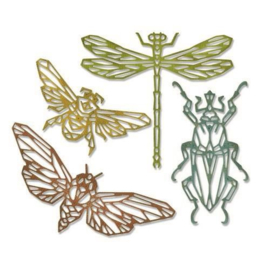 Sizzix Thinlits Die Set - 4PK Geo Insects 664180 Tim Holtz