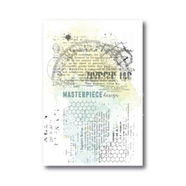 MP Design Clearstamp 4×6″ – Grungy Rulers