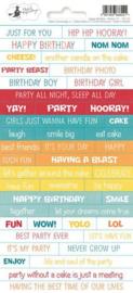 Piatek13 - Sticker sheet Happy Birthday 01 P13-417 10,5x23 cm