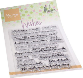 Marianne D Clear Stamps Wishes (ENG) by Marleen CS1079
