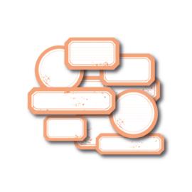 """MPdesign Die-cuts – labels – """"Peach"""""""