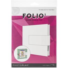 "PhotoPlay Maker Series Folio 6""X6"" White"