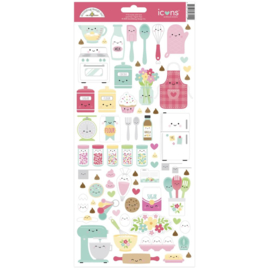 """Doodlebug Cardstock Stickers 6""""X13"""" Made With Love Icons"""