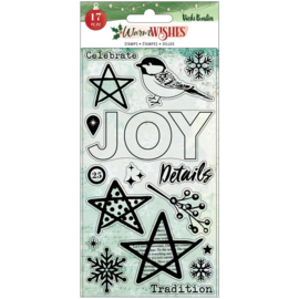 Vicki Boutin Warm Wishes Acrylic Stamps 17/Pkg