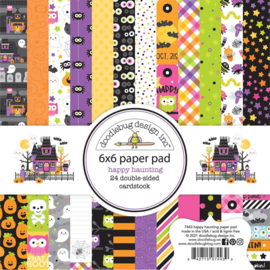 """Doodlebug Double-Sided Paper Pad 6""""X6"""" 24/Pkg Happy Haunting, 12 Designs/2 Each preorder"""