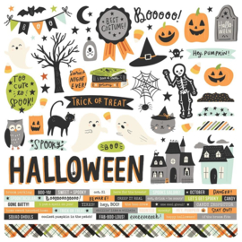 """Simple Stories Spooky Nights Cardstock Stickers 12""""X12"""" Combo preorder"""
