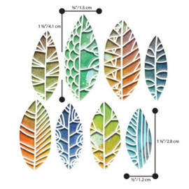 Sizzix Thinlits Die Set - 8PK Cut Out Leaves by Tim Holt 664431 Tim Holtz