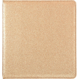 "Webster's Pages Color Crush Small Creative Photo Album 8.5""X9""X2"" Gold Glitter"