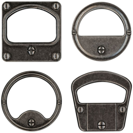 "Tim Holtz Idea-Ology Metal Gauge Frames 2""X2"" 4/Pkg"