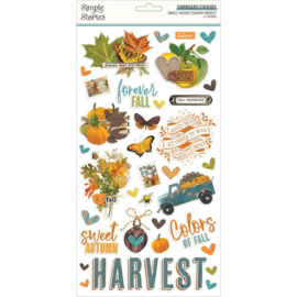 """Simple Stories Simple Vintage Country Harvest Chipboard Stickers 6""""X12"""""""