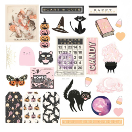 Thirty-One By Frank Garcia Cardstock Ephemera 27/Pkg Shapes, Tags, Words, Foiled Accents
