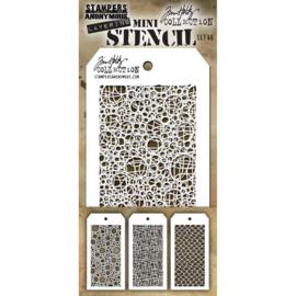 Tim Holtz Mini Layered Stencil Set 3/Pkg Set #46