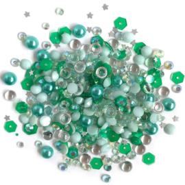 Buttons Galore Sparkletz Embellishment Pack 10g Aquamarine