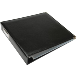 """We R Classic Leather D-Ring Album 12""""X12"""" Black"""