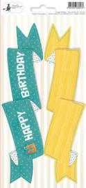Piatek13 - Sticker sheet Party Happy Birthday 03 P13-422 10,5x23 cm