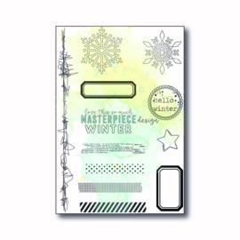 "MP Design Clearstamp 4×6″ – ""Hello winter"""