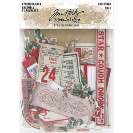 Tim Holtz Idea-Ology Ephemera Pack 57/Pkg Christmas